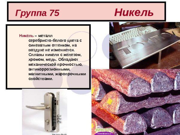 Покрытия из никеля