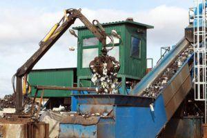 Предварительная очистка металлолома
