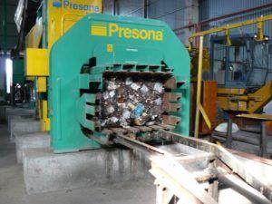 Пресс машина для металлолома