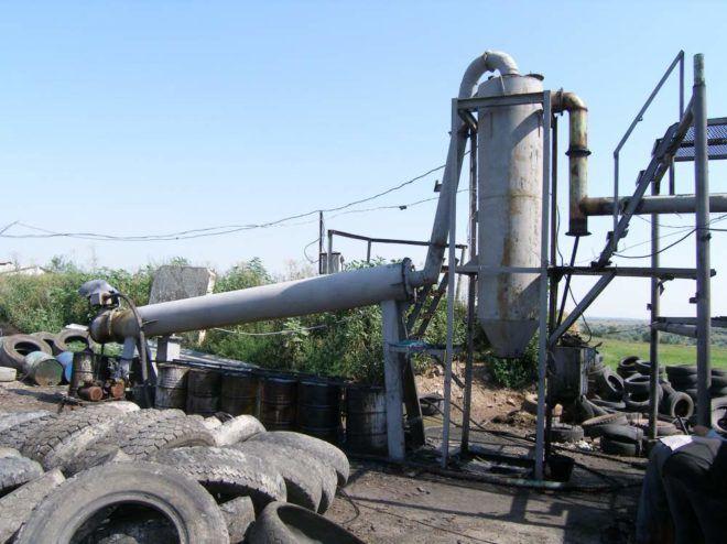 Процесс пиролизной переработки шин