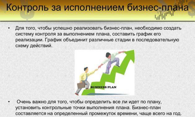 Контроль за исполнением бизнес-плана