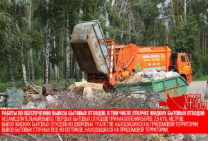 Вывоз и размещение отходов на полигоне ТБО