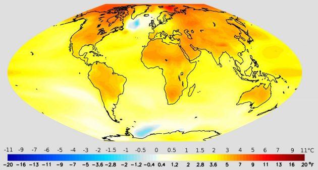 Изменение средней температуры за последние 100 лет