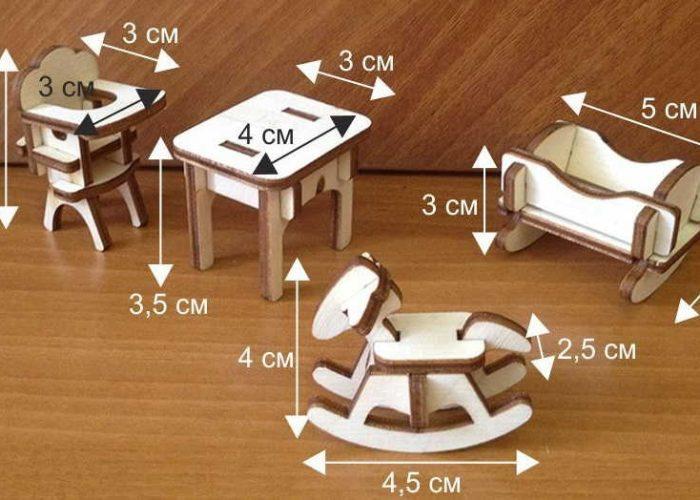 Размеры игрушечной мебели