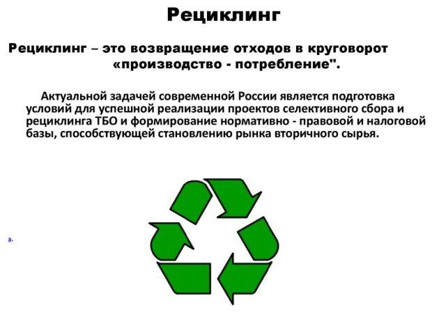 Рециклинг схема