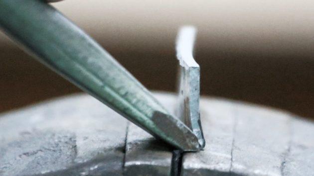 Рубка металла зубилом