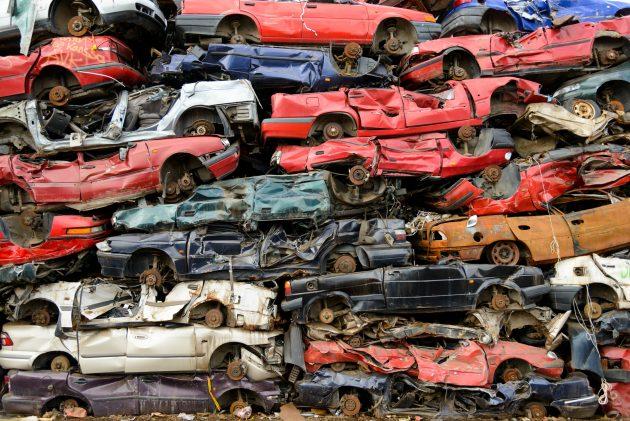Старые автомобили на лом