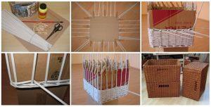 Декорирование коробки из картона своими руками