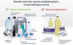Какую ПЭТ тару можно выбрасывать для переработки в контейнер-корзину
