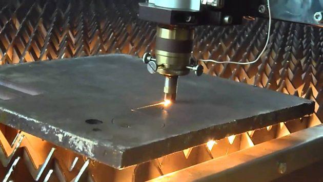 Лазерная резка толстого металла