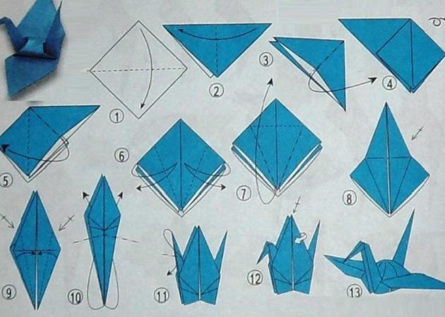 Лебедь из бумаги (оригами)