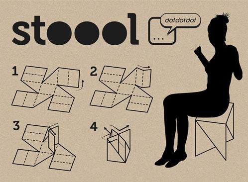 Легкость в изготовлении - еще один плюс картонной мебели