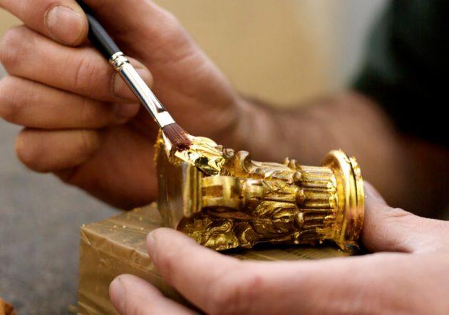 Нанесение покрытия из золота