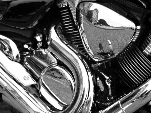 Никелирование отражателя фары мотоцикла