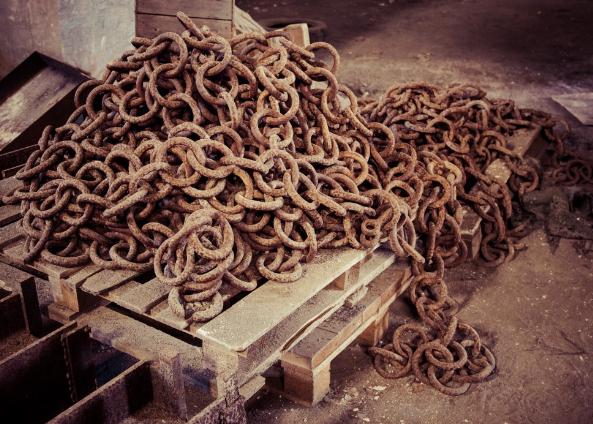 Старые цепи на лом