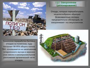 Технология переработки бытовых отходов на полигонах
