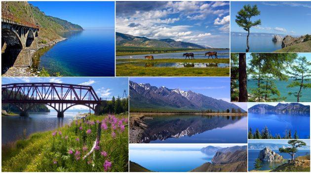 Виды на Озеро Байкал
