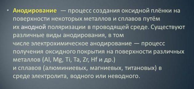 Анодирование