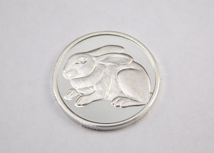 Монета из серебра 925 пробы