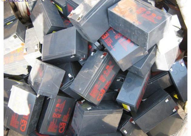 Отработанные никель-железные аккумуляторы