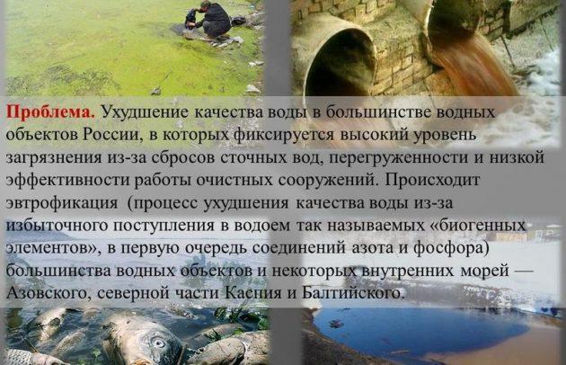 Экология водных ресурсов России