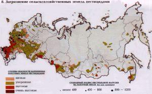 Загрязнение сельскохозяйственных земель пестицидами
